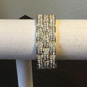 Brand New Rhinestone Brick style Bracelet
